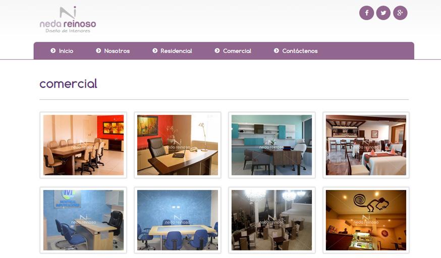 cuenta con pginas interiores fotos en toda su web adems una cabecera con carrusel